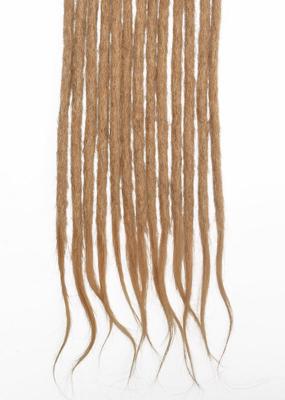Blond miel #26 cheveux naturels dreadlocks extensions
