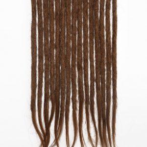 Brun clair #8 cheveux naturels dreadlocks extensions