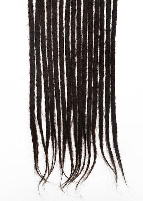 Brun foncé #2 cheveux naturels dreadlocks extensions