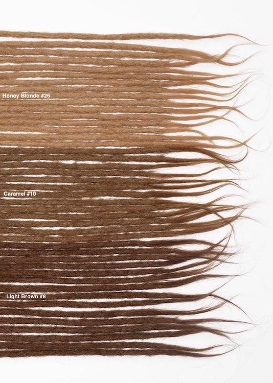 brun blond cheveux naturels dreadlocks extensions