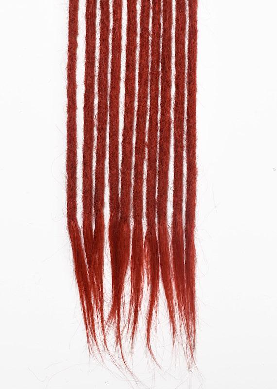 rouge cheveux naturels dreadlocks extensions