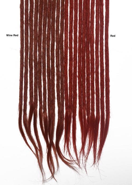 rouge vibrant cheveux naturels dreadlocks extensions