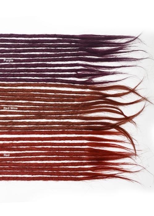 violet cheveux naturels dreadlocks extensions